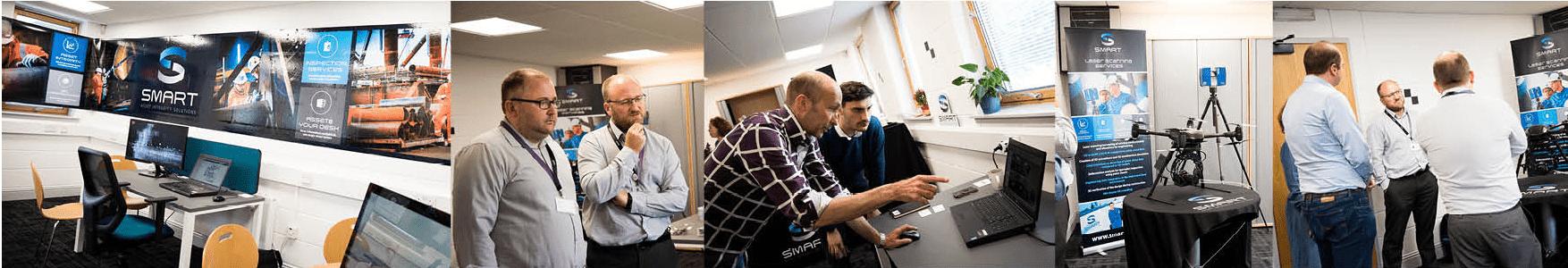 3d laserscanning engineers van Smart AIS - Euro Drone Inspections geven een presentatie over doeltreffend gebruik van drones bij een 3d scan
