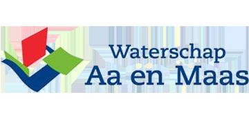 Het logo van Waterschap Aa en Maas. Eén van de vele klanten van Euro Drone Inspections.