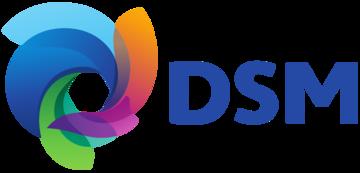 Het logo van DSM. Eén van de vele klanten van Euro Drone Inspections.