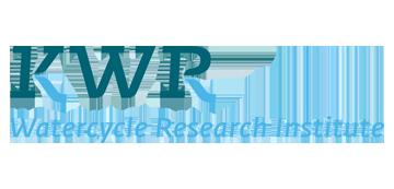 Het logo van KWR. Eén van de vele klanten van Euro Drone Inspections.