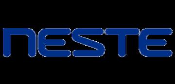 Het logo van Neste. Eén van de vele klanten van Euro Drone Inspections.