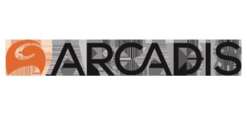 Het logo van Arcadis. Eén van de vele klanten van Euro Drone Inspections.