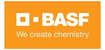 Het logo van BASF. Eén van de vele klanten van Euro Drone Inspections.
