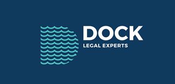 Het logo van Dock Legal Experts. Eén van de vele klanten van Euro Drone Inspections.