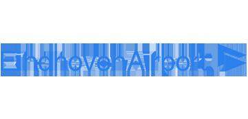 Het logo van Eindhoven Airport. Eén van de vele klanten van Euro Drone Inspections.