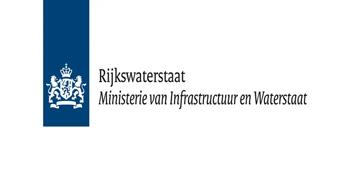 Het logo van Rijkswaterstaat Nederland. Eén van de vele klanten van Euro Drone Inspections.