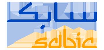 Het logo van Sabic. Eén van de vele klanten van Euro Drone Inspections.