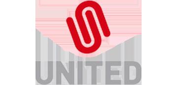 Het logo van United. Eén van de vele klanten van Euro Drone Inspections.