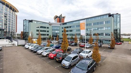 Achterzijde kantoor van Euro Drone Inspections in Schiedam