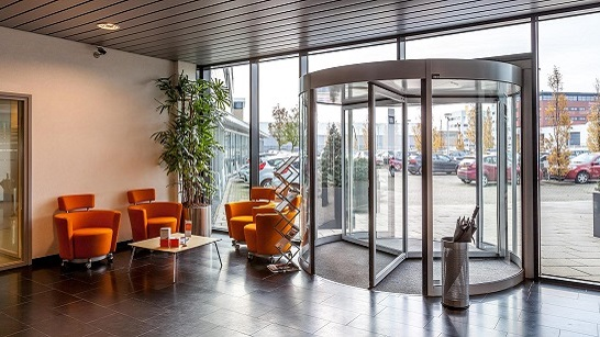 Ingang (Lobby) kantoor van Euro Drone Inspections in Schiedam